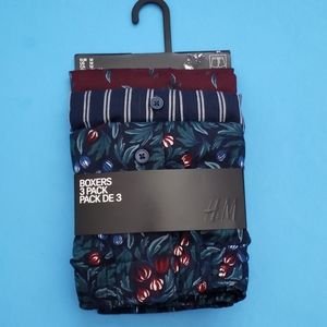 NWOT H&M 3 Pack Woven Boxers